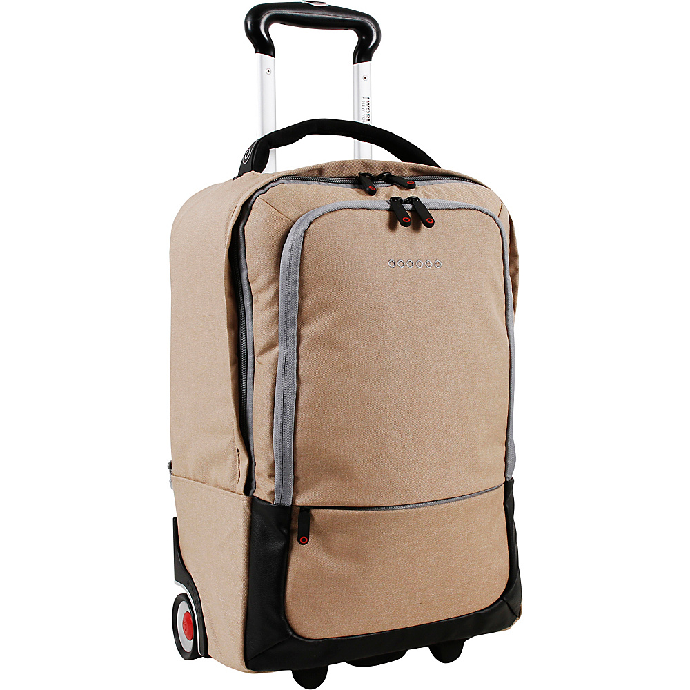 J World New York Sway Laptop Rolling Backpack Sand - J World New York Rolling Backpacks - Backpacks, Rolling Backpacks