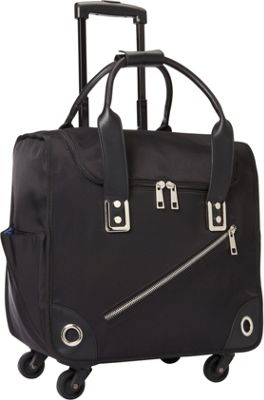 Hang Accessories Nylon 360 Rolling Bag Black - Hang Accessories Softside Carry-On