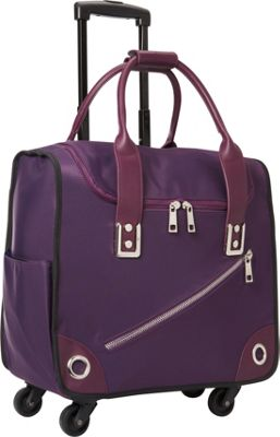 Hang Accessories Nylon 360 Rolling Bag Purple - Hang Accessories Softside Carry-On