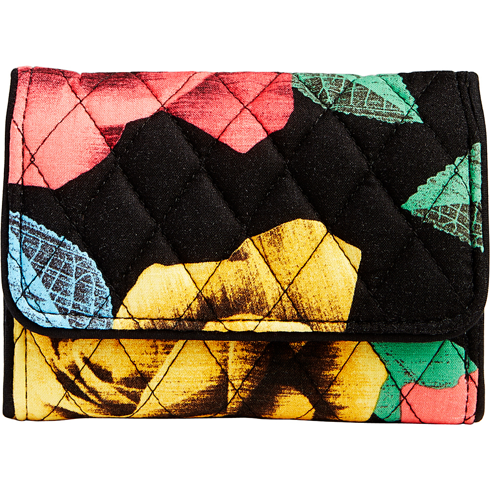 Vera Bradley Riley Compact Wallet Havana Rose - Vera Bradley Womens Wallets - Women's SLG, Women's Wallets