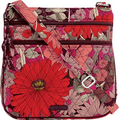 Vera Bradley Keep Charged Triple Zip Hipster Bohemian Blooms - Vera Bradley Fabric Handbags