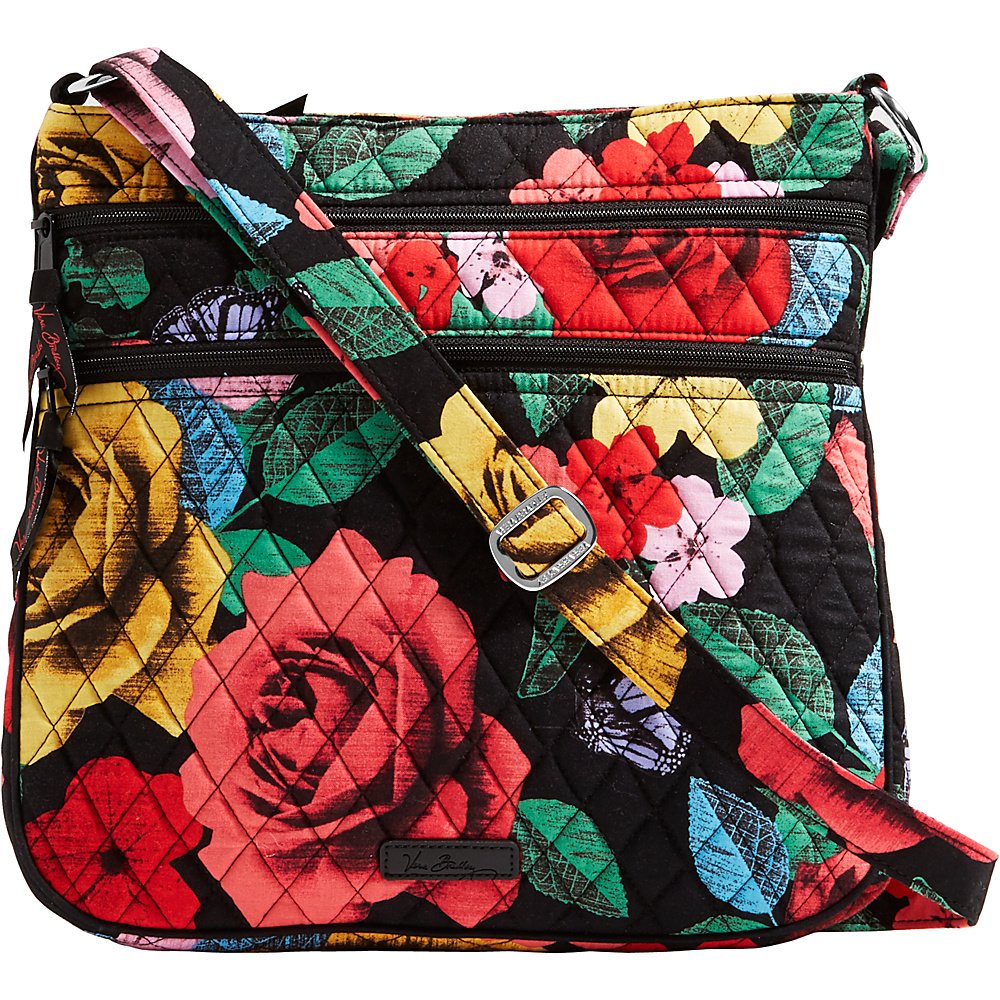 Vera Bradley Keep Charged Triple Zip Hipster Havana Rose - Vera Bradley Fabric Handbags - Handbags, Fabric Handbags