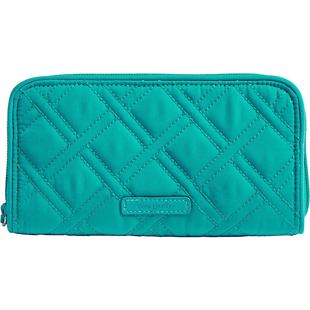Vera Bradley RFID Georgia Wallet - Solid Turquoise Sea - Vera Bradley Womens Wallets - Women's SLG, Women's Wallets
