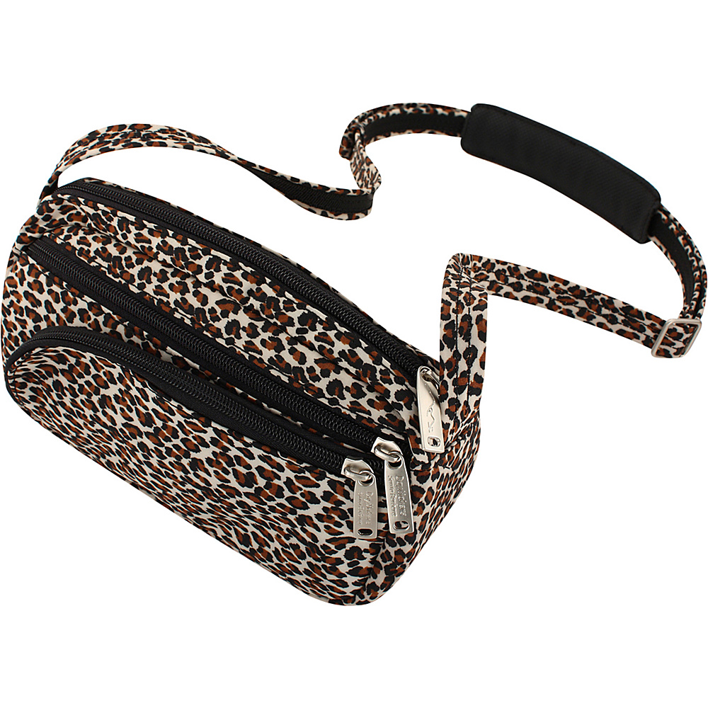 BeSafe by DayMakers Anti Theft Small Satchel with Organizer Leopard BeSafe by DayMakers Fabric Handbags