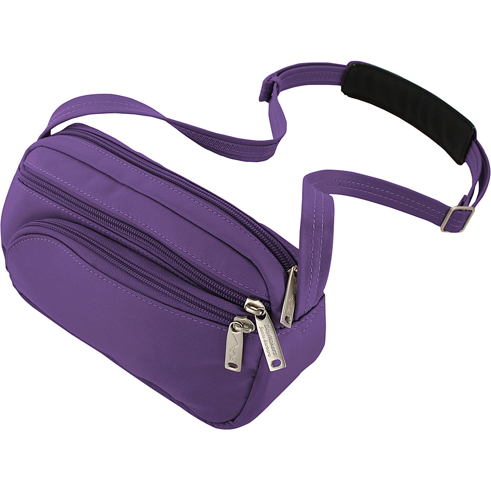 BeSafe by DayMakers Anti Theft Small Satchel with Organizer Purple BeSafe by DayMakers Fabric Handbags