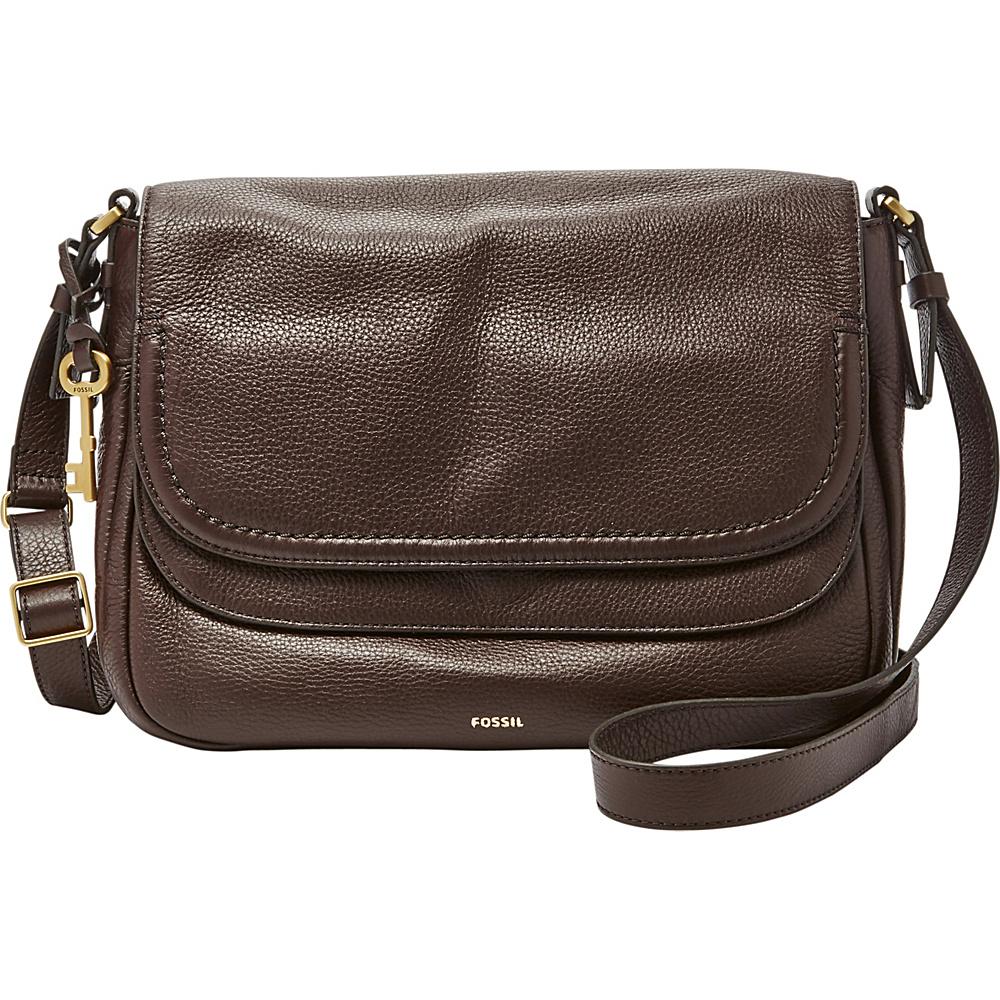 Fossil Peyton Large Double Flap Crossbody Cardovan - Fossil Leather Handbags