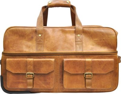 Rawlings Rugged Series 22 inch Wheeled Travel Duffle Cognac - Rawlings Softside Carry-On