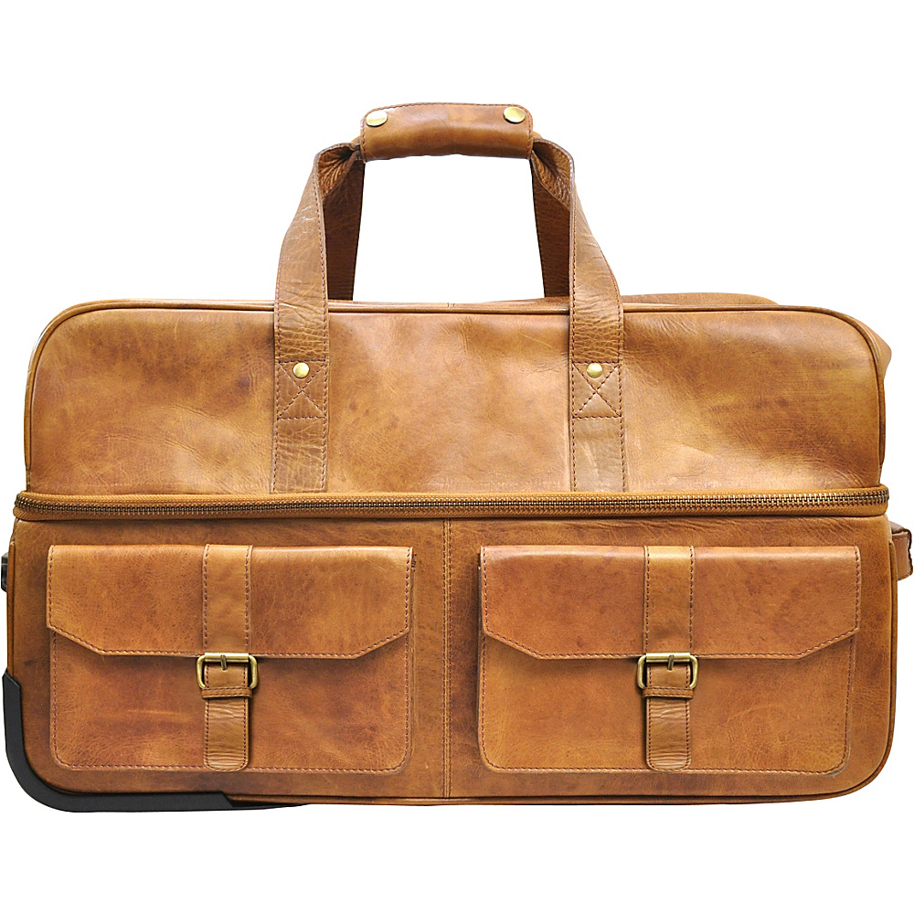 Rawlings Rugged Series 22 Wheeled Travel Duffle Cognac Rawlings Softside Carry On