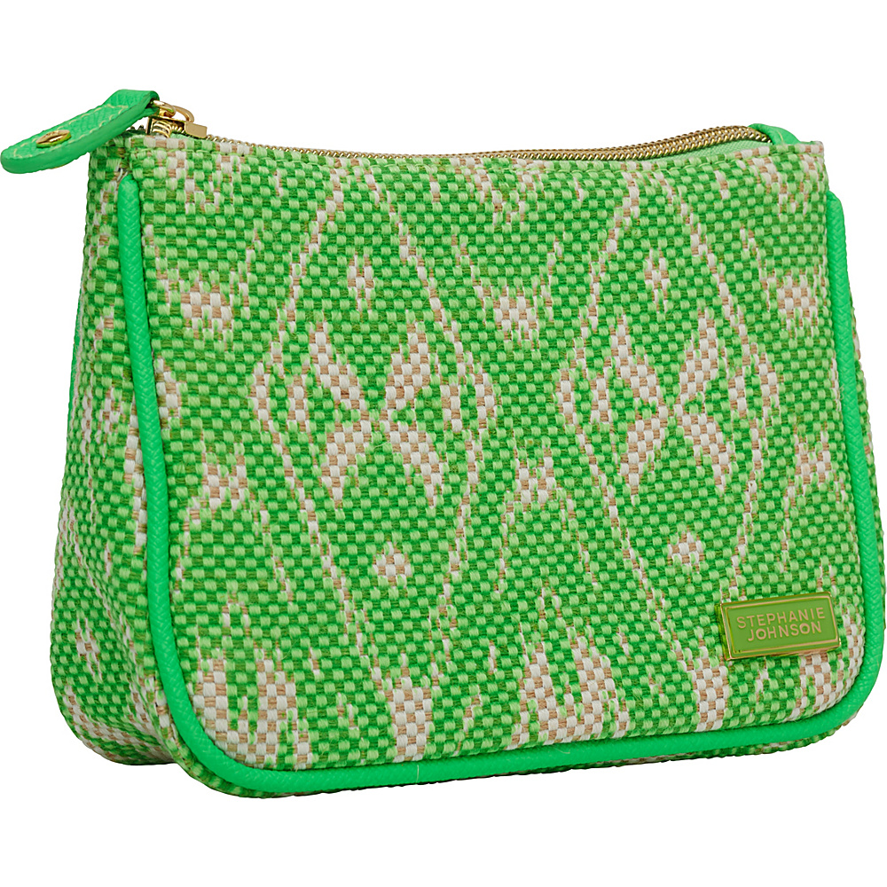 Stephanie Johnson Tamarindo Maya Medium Zip Top Cosmetic Bag Green Stephanie Johnson Women s SLG Other