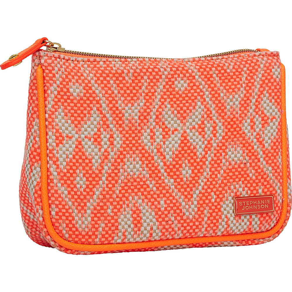 Stephanie Johnson Tamarindo Maya Medium Zip Top Cosmetic Bag Orange Stephanie Johnson Women s SLG Other