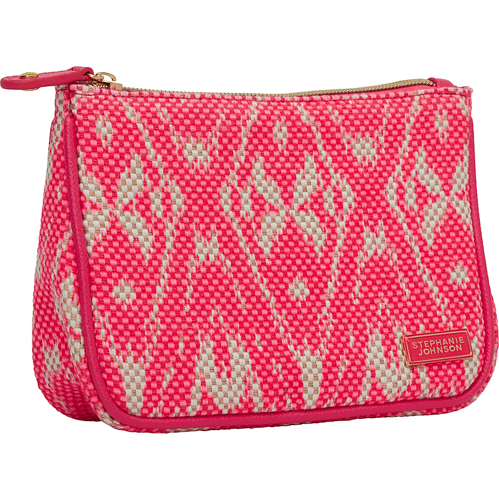 Stephanie Johnson Tamarindo Maya Medium Zip Top Cosmetic Bag Pink Stephanie Johnson Women s SLG Other
