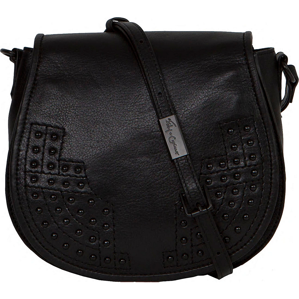Foley Corinna Stevie Saddle Bag Black Foley Corinna Designer Handbags
