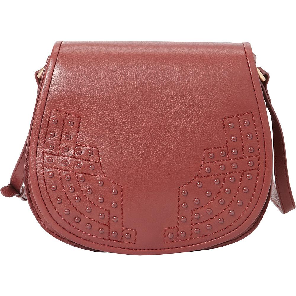Foley Corinna Stevie Saddle Bag Bordeaux Foley Corinna Designer Handbags