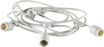Lazervolt String Light Cable 3 Sockets with Continuous Female Plug White - Lazervolt Outdoor Accessories