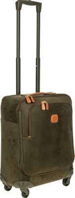 BRIC'S Life 21 inch Carry-On Spinner Olive - BRIC'S Softside Carry-On