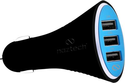 Naztech Turbo T3 7.2Amp Micro USB Car Charger Black - Naztech Portable Batteries & Chargers