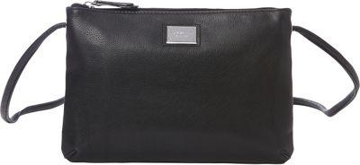 Tignanello Pebble Leather Tech Charging Crossbody Black - Tignanello Leather Handbags