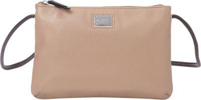 Tignanello Pebble Leather Tech Charging Crossbody Taupe Multi - Tignanello Leather Handbags
