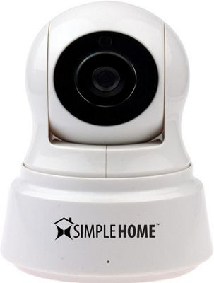 Simple Home Pan & Tilt Wi-Fi Security Camera White - Simple Home Smart Home Automation