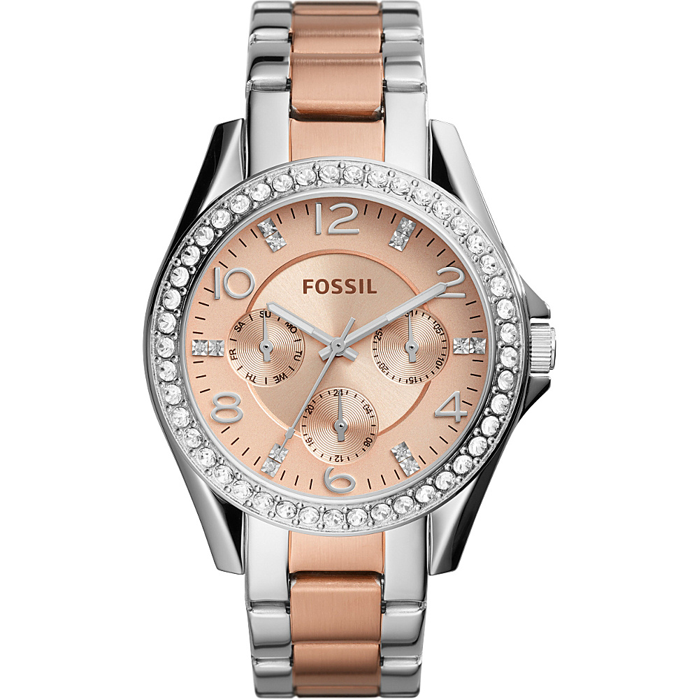 Fossil Riley Multifunction Stainless Steel Watch Silver - Fossil Watches - Fashion Accessories, Watches