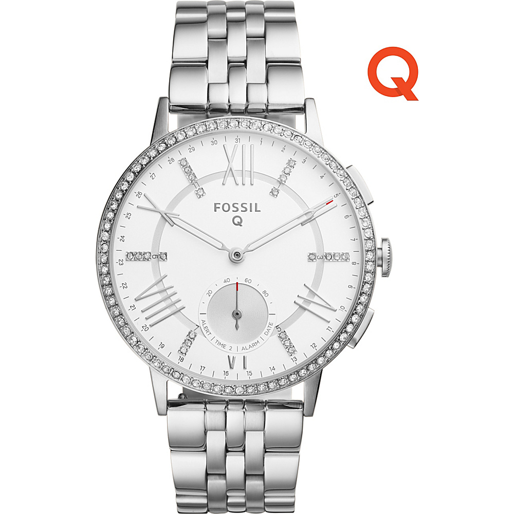 Fossil Q Gazer Stainless Steel Hybrid Smartwatch Silver - Fossil Wearable Technology - Technology, Wearable Technology
