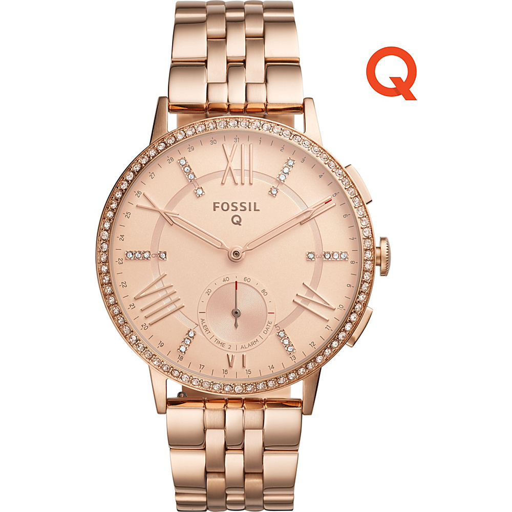 Fossil Q Gazer Stainless Steel Hybrid Smartwatch Rose Gold - Fossil Wearable Technology - Technology, Wearable Technology