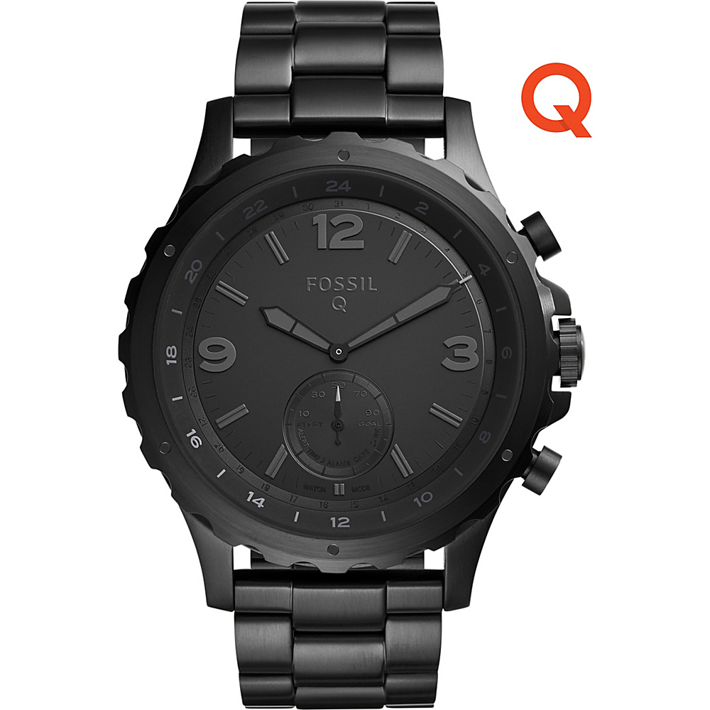 Fossil Q Nate Stainless Steel Hybrid Smartwatch Black - Fossil Wearable Technology