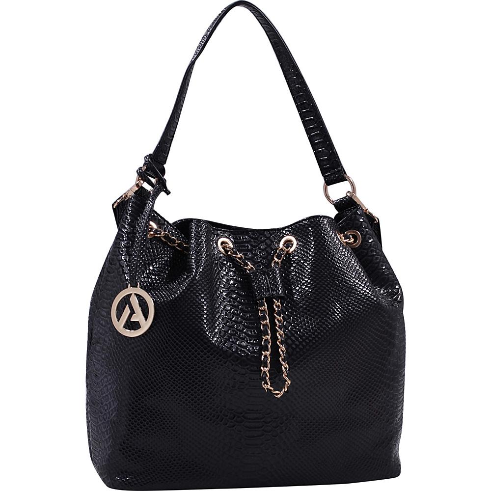 MKF Collection by Mia K. Farrow Rosella Drawstring Hobo Bag Black - MKF Collection by Mia K. Farrow Manmade Handbags - Handbags, Manmade Handbags