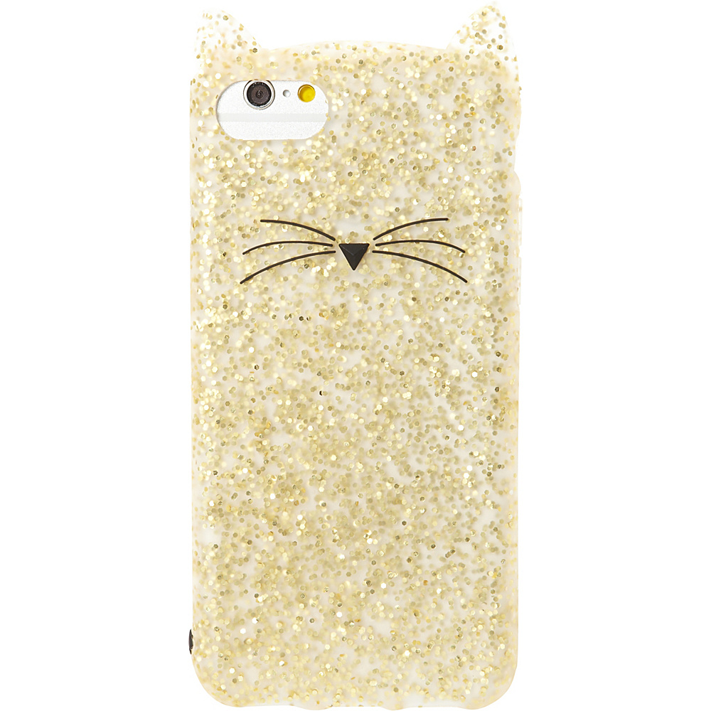 kate spade new york Glitter Cat iPhone 7 Case Gold Glitter kate spade new york Electronic Cases