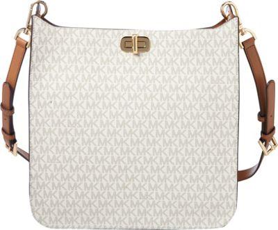 MICHAEL Michael Kors Sullivan Large NS Messenger Vanilla - MICHAEL Michael Kors Designer Handbags