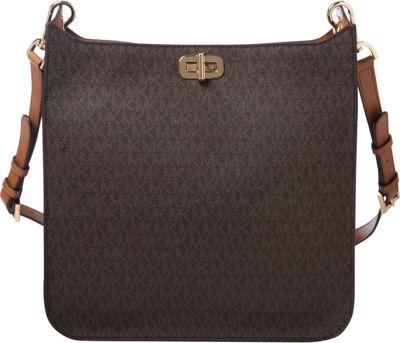 MICHAEL Michael Kors Sullivan Large NS Messenger Brown - MICHAEL Michael Kors Designer Handbags