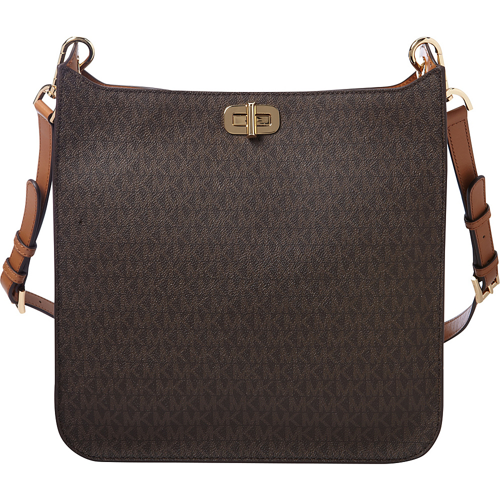 MICHAEL Michael Kors Sullivan Large NS Messenger Brown - MICHAEL Michael Kors Designer Handbags