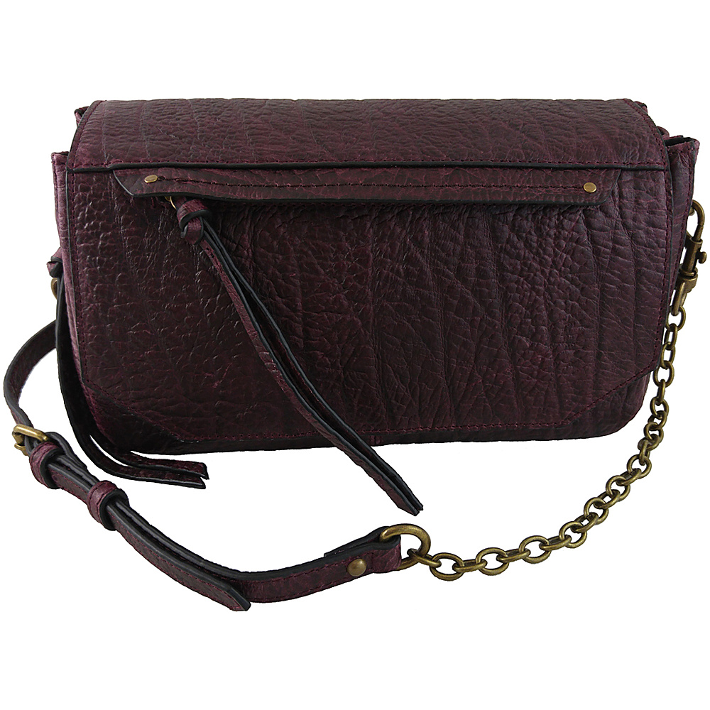 Joelle Hawkens by treesje Paige Small Triple Crossbody Bordeaux Joelle Hawkens by treesje Designer Handbags
