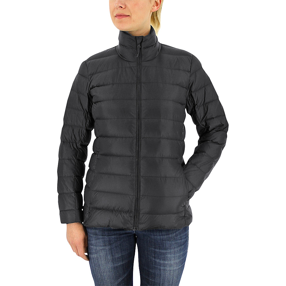 adidas apparel Womens Light Down Jacket L Utility Black Unity Ink adidas apparel Women s Apparel