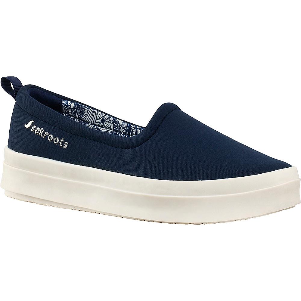 Sakroots Saz Flat Sneaker 8 - Navy - Sakroots Womens Footwear - Apparel & Footwear, Women's Footwear