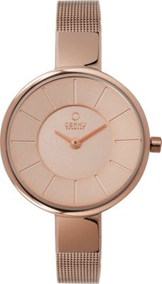 Obaku Watches Womens Stainless Steel Mesh Watch Rose Gold/Rose Gold - Obaku Watches Watches