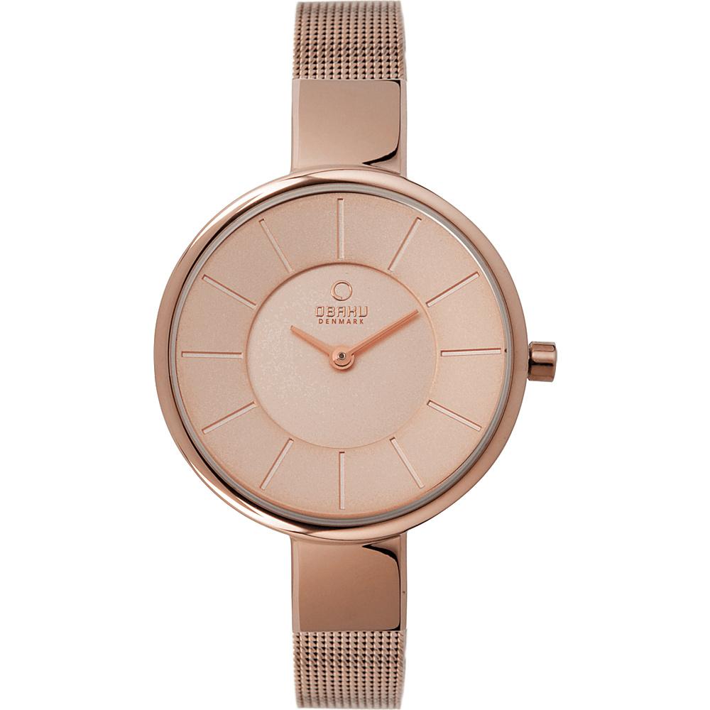 Obaku Watches Womens Stainless Steel Mesh Watch Rose Gold Rose Gold Obaku Watches Watches