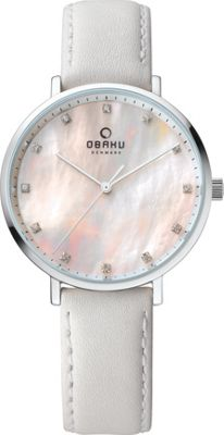 Obaku Watches Womens Mother of Pearl Leather Watch White - Obaku Watches Watches