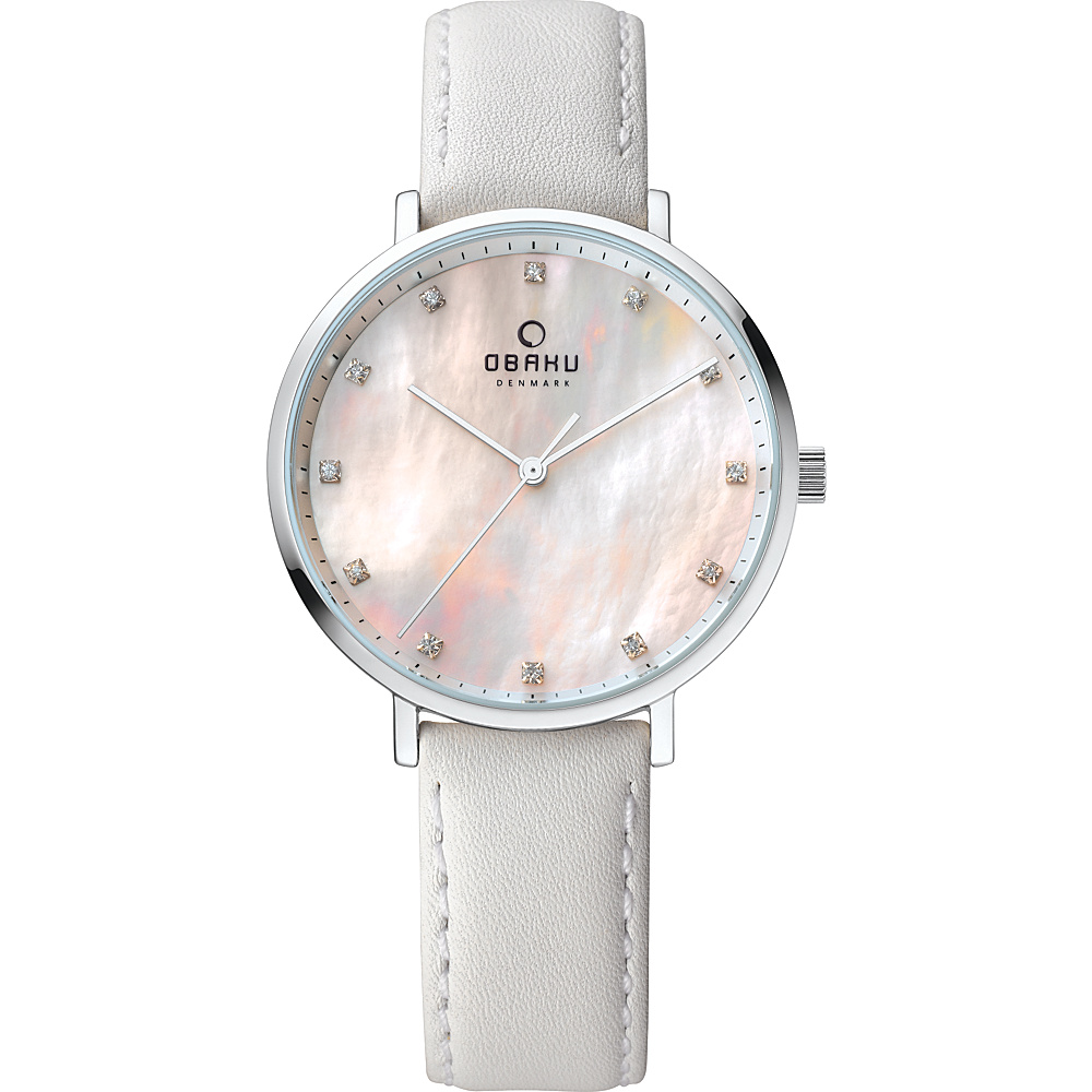 Obaku Watches Womens Mother of Pearl Leather Watch White Obaku Watches Watches