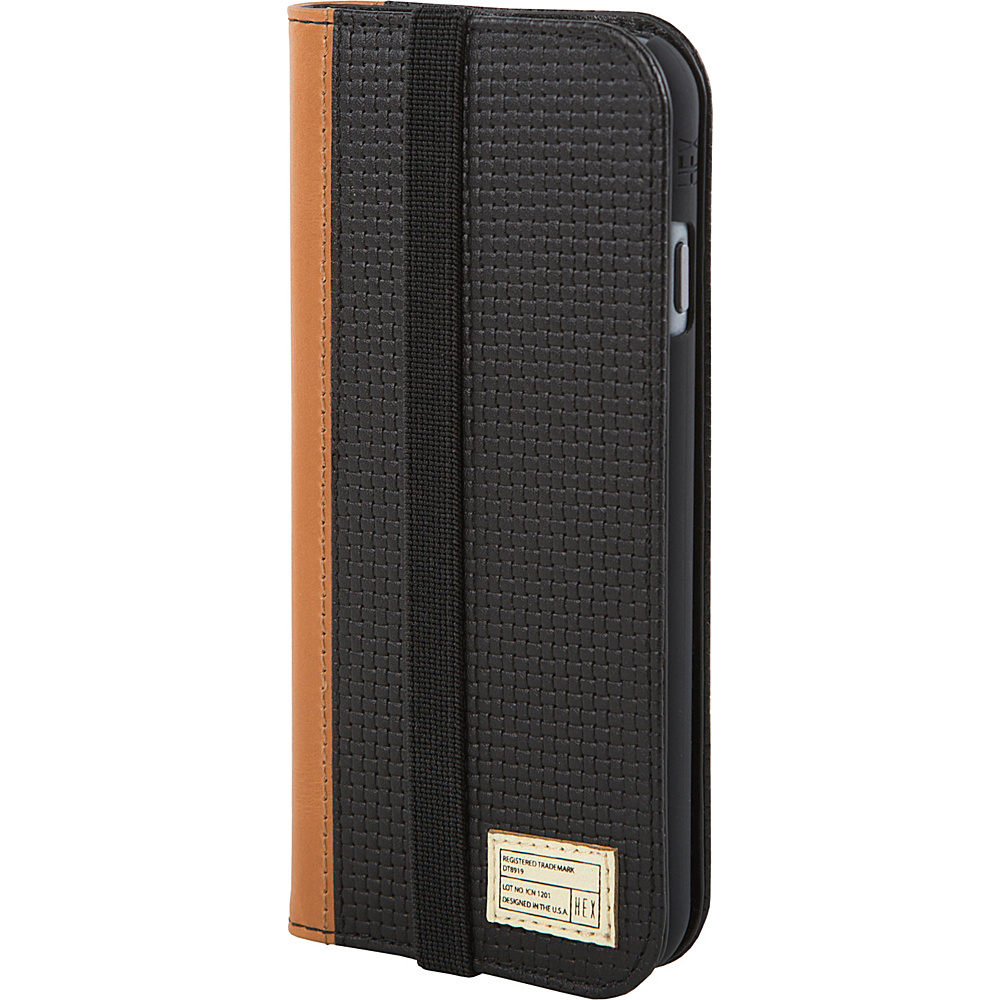 HEX Icon Wallet for iPhone 6 6S Black Woven Leather HEX Electronic Cases