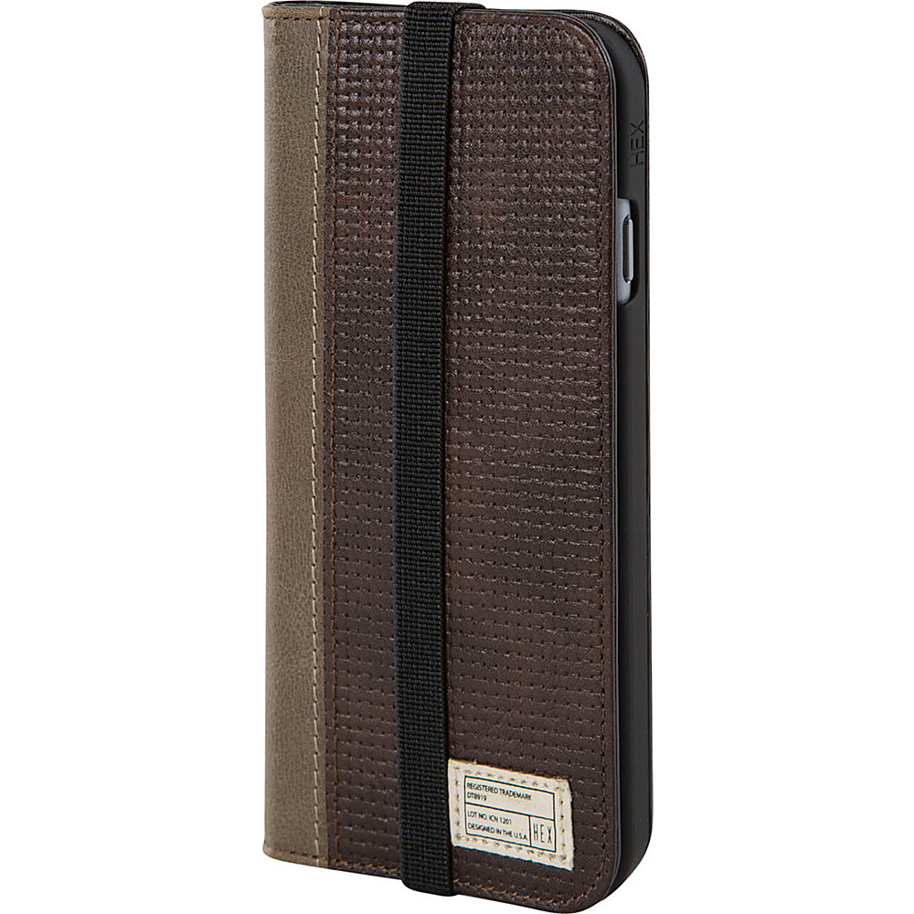 HEX Icon Wallet for iPhone 6 6S Brown Leather HEX Electronic Cases