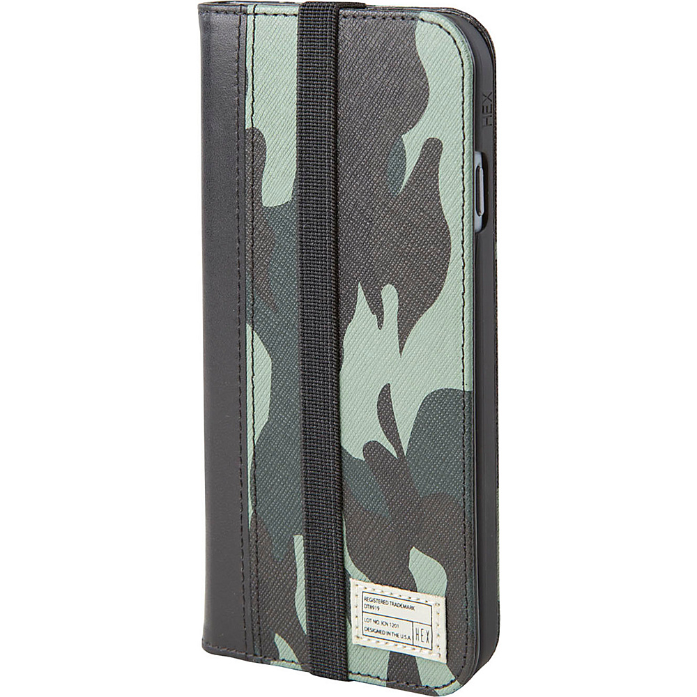 HEX Icon Wallet for iPhone 6 6S Marine Camo Leather HEX Electronic Cases