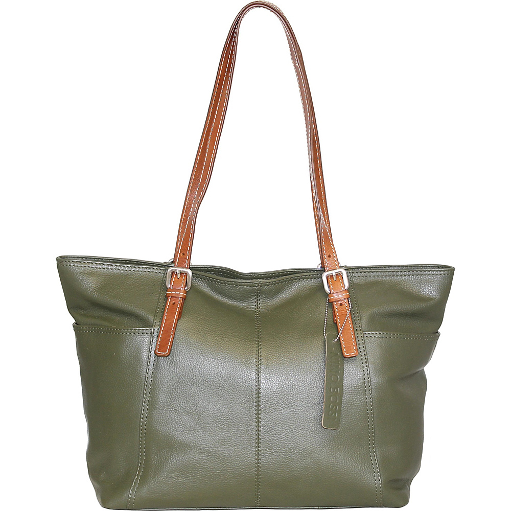 Nino Bossi Butter Cup Blossom Tote Green - Nino Bossi Leather Handbags - Handbags, Leather Handbags