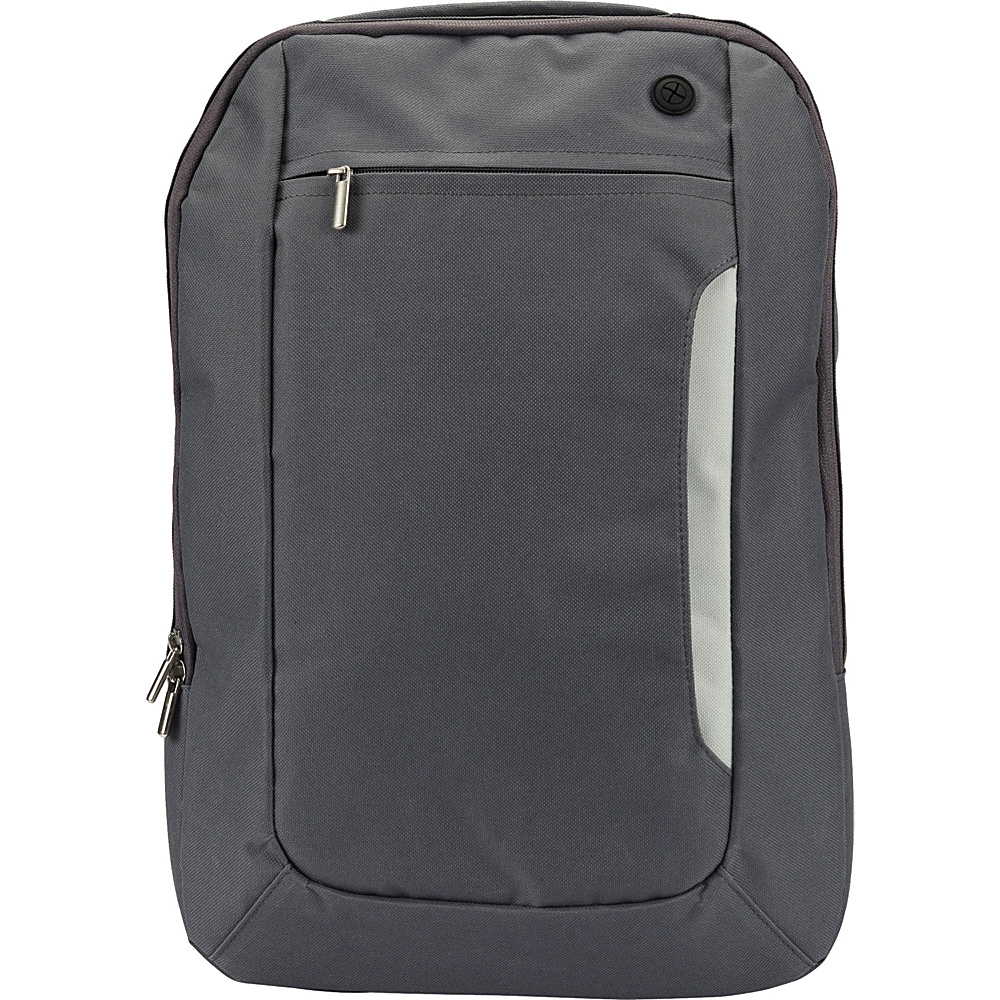 1Voice The Sentinel RFID Blocking Backpack Grey 1Voice Business Laptop Backpacks
