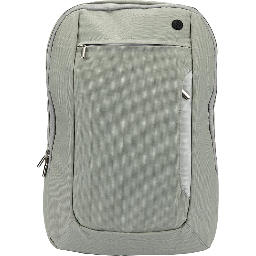1Voice The Sentinel RFID Blocking Backpack Light Grey 1Voice Business Laptop Backpacks
