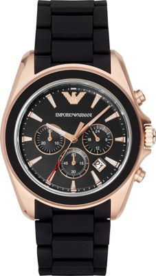Emporio Armani Sportivo Watch Black - Emporio Armani Watches