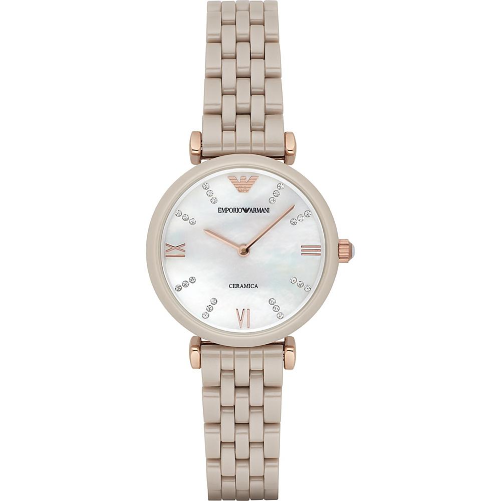 Emporio Armani Retro Watch Sand/RoseGold - Emporio Armani Watches