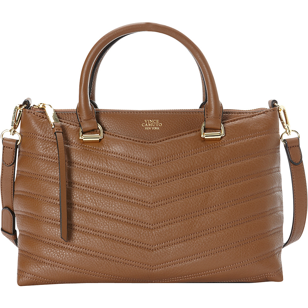 Vince Camuto Daz Satchel Golden Brown Vince Camuto Designer Handbags