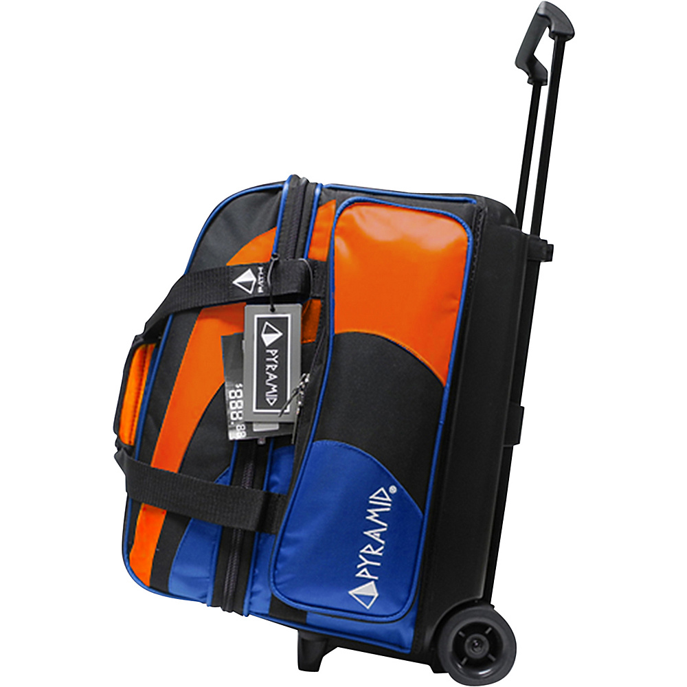Pyramid Path Double Roller Bowling Bag Royal Blue Orange Pyramid Bowling Bags