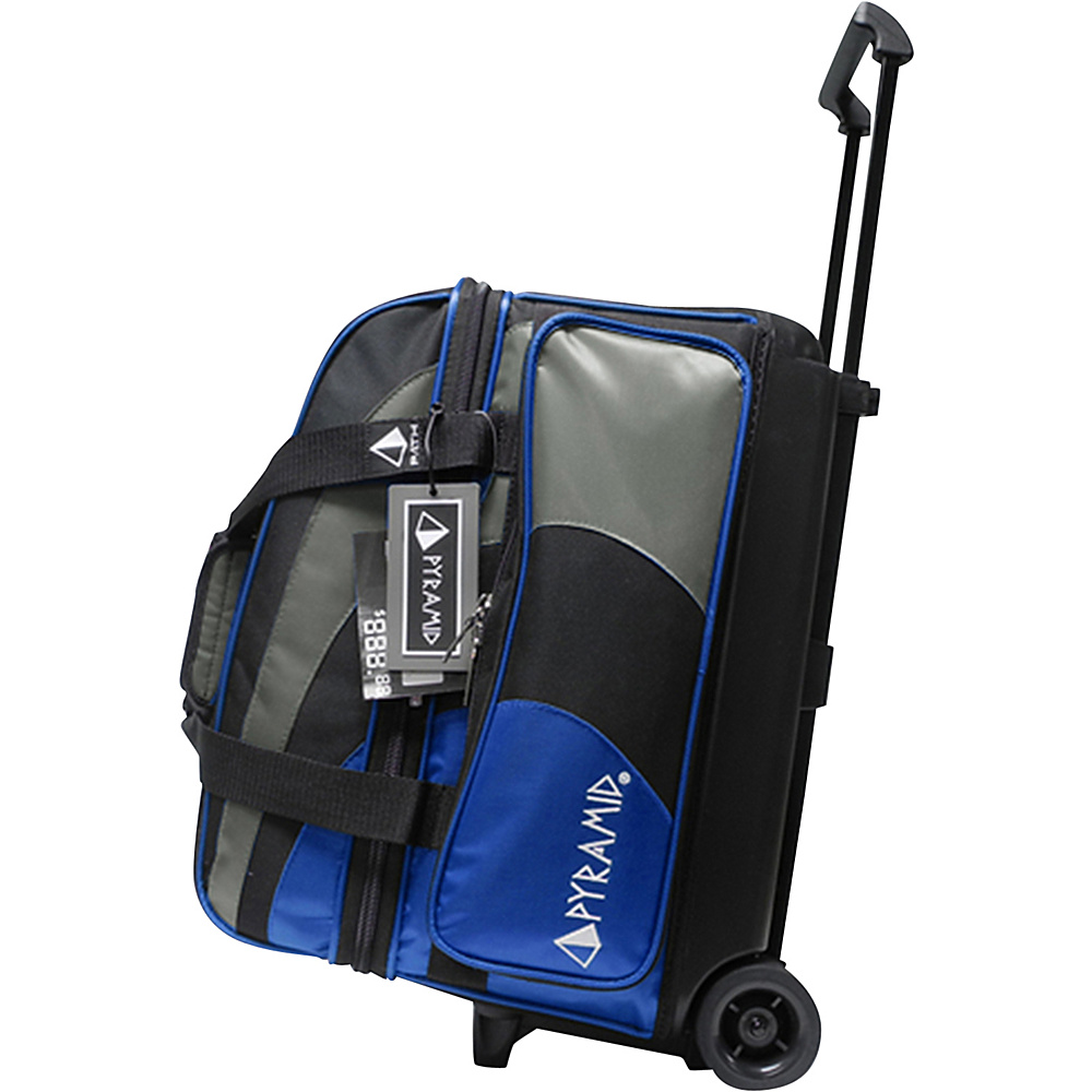 Pyramid Path Double Roller Bowling Bag Royal Blue Silver Pyramid Bowling Bags